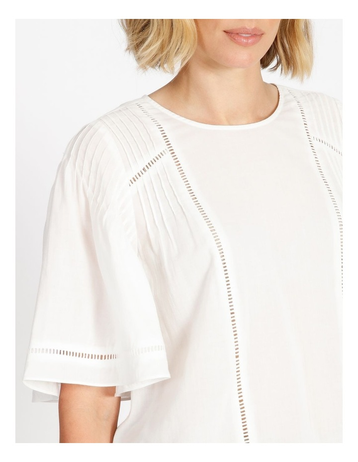 Lace Insert Pintuck Tee White image 5