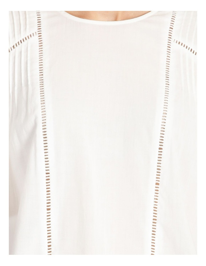 Lace Insert Pintuck Tee White image 6