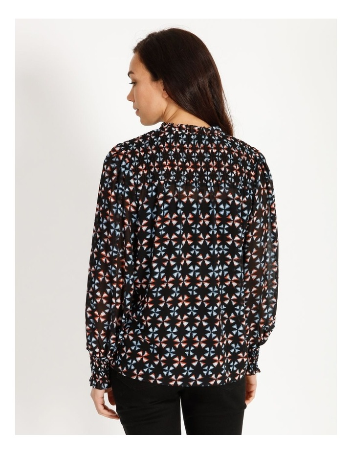 Printed Blouse With Shirring Detail image 4