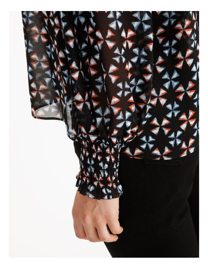 Printed Blouse With Shirring Detail image 6