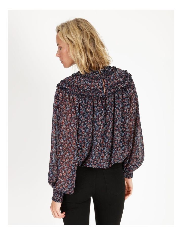 High Neck Long Sleeve Blouse Paisley Print image 4