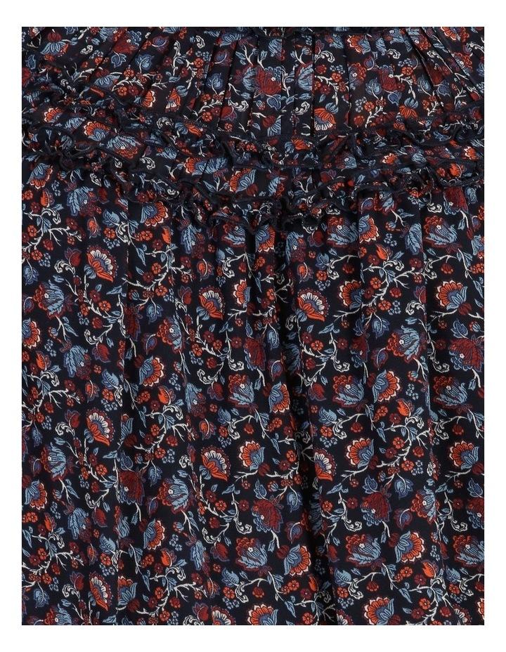 High Neck Long Sleeve Blouse Paisley Print image 6