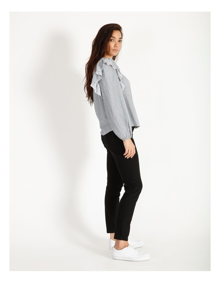 Textured Knit Ruffle Top image 3