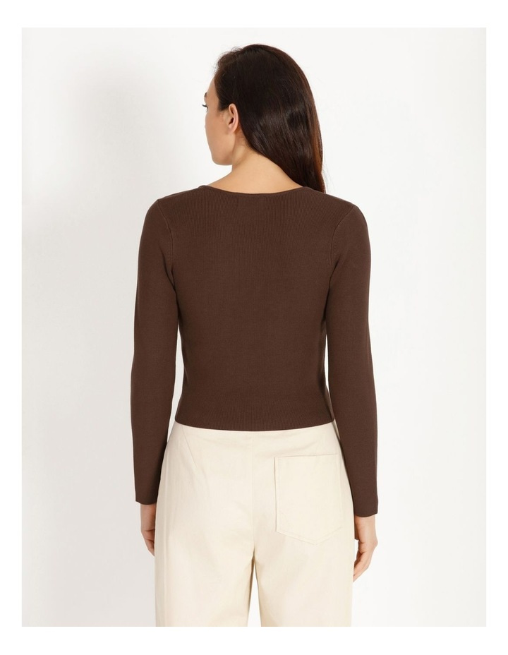 Bustier Long Sleeve Knit Top image 4