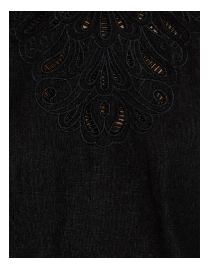 Linen Placement Embroidered Top image 6
