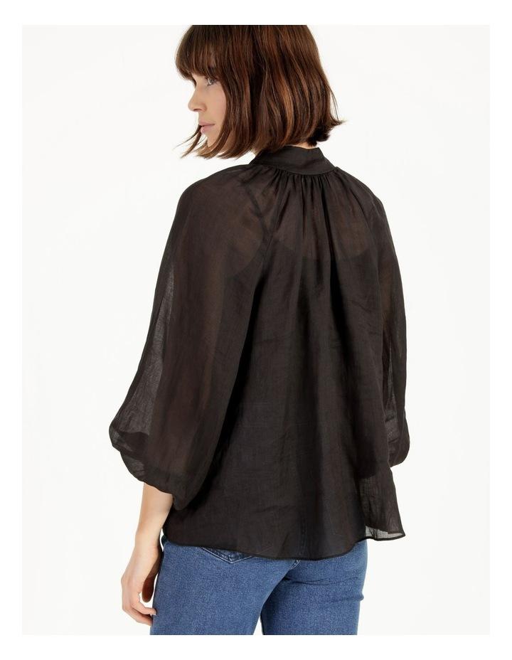High Neck Button Blouse Black image 5