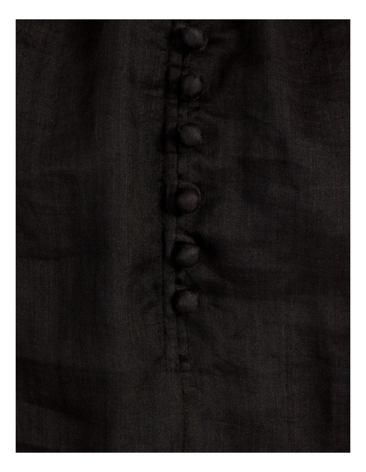 High Neck Button Blouse Black image 7