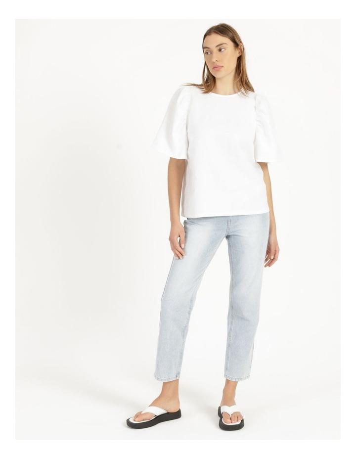 Organic Linen Puff Sleeve Top image 3