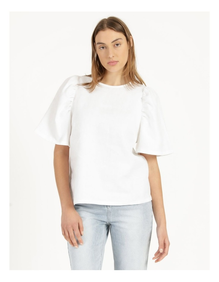 Organic Linen Puff Sleeve Top image 4