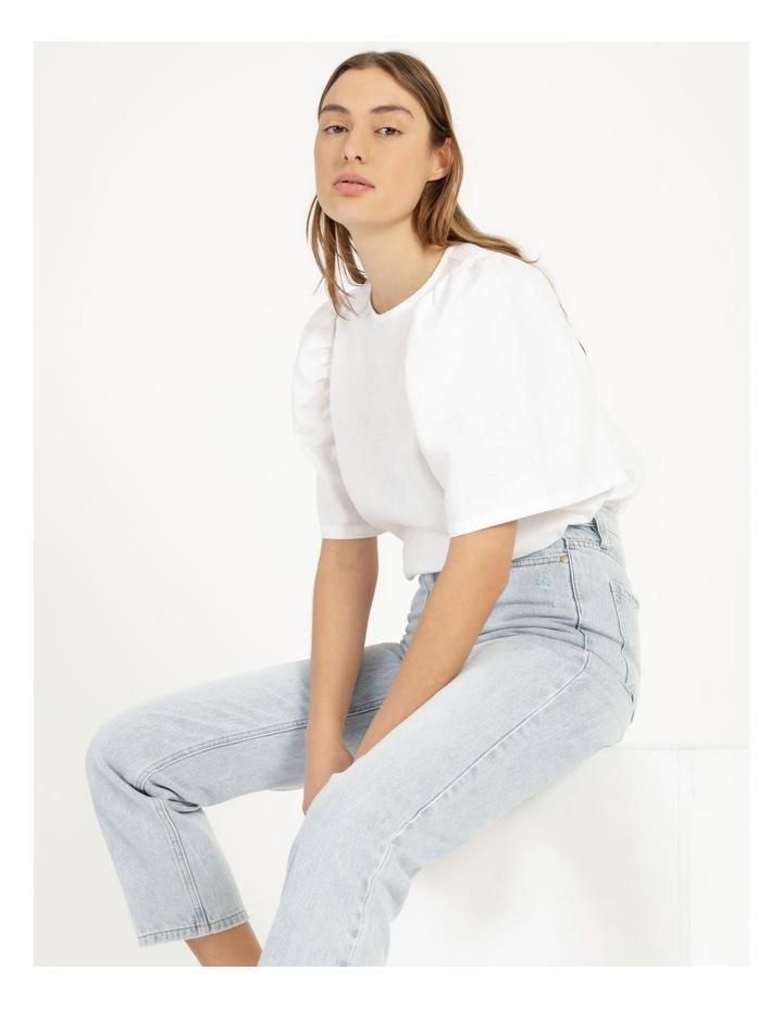 Organic Linen Puff Sleeve Top image 5