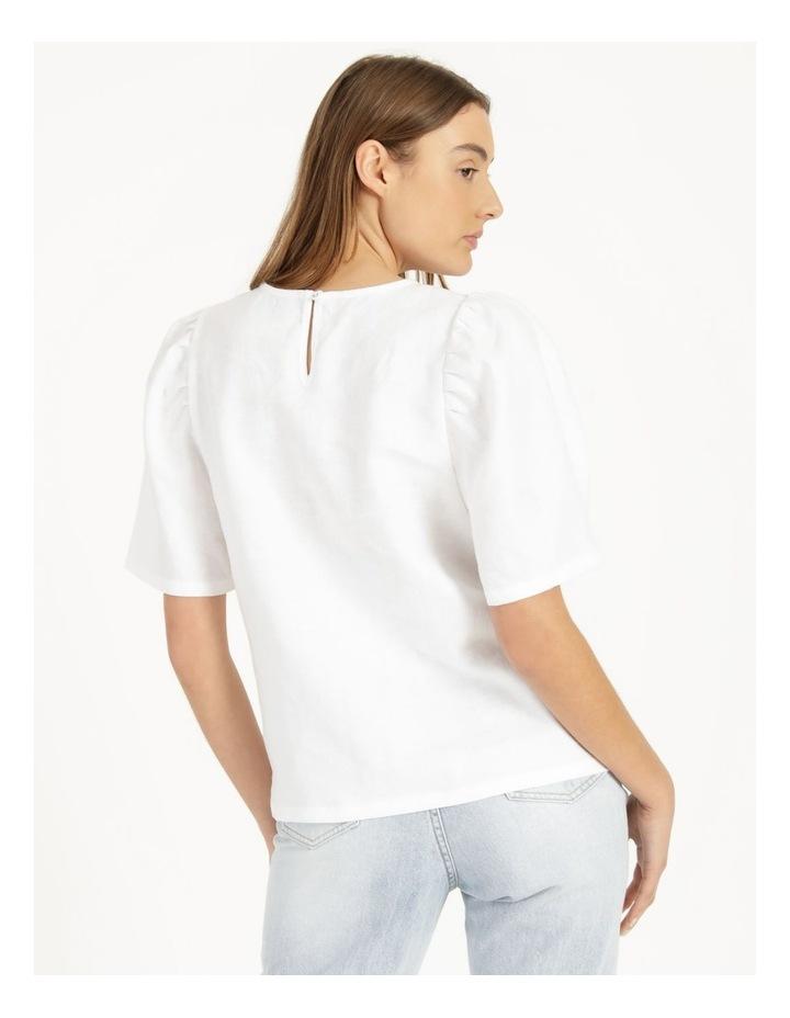 Organic Linen Puff Sleeve Top image 6