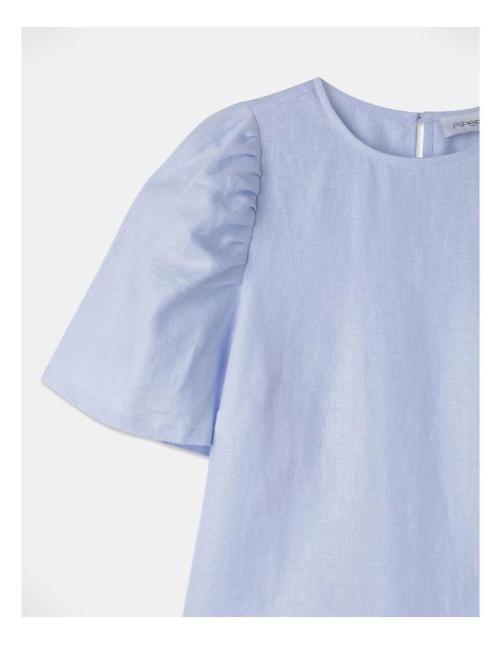 Organic Linen Puff Sleeve Top image 2
