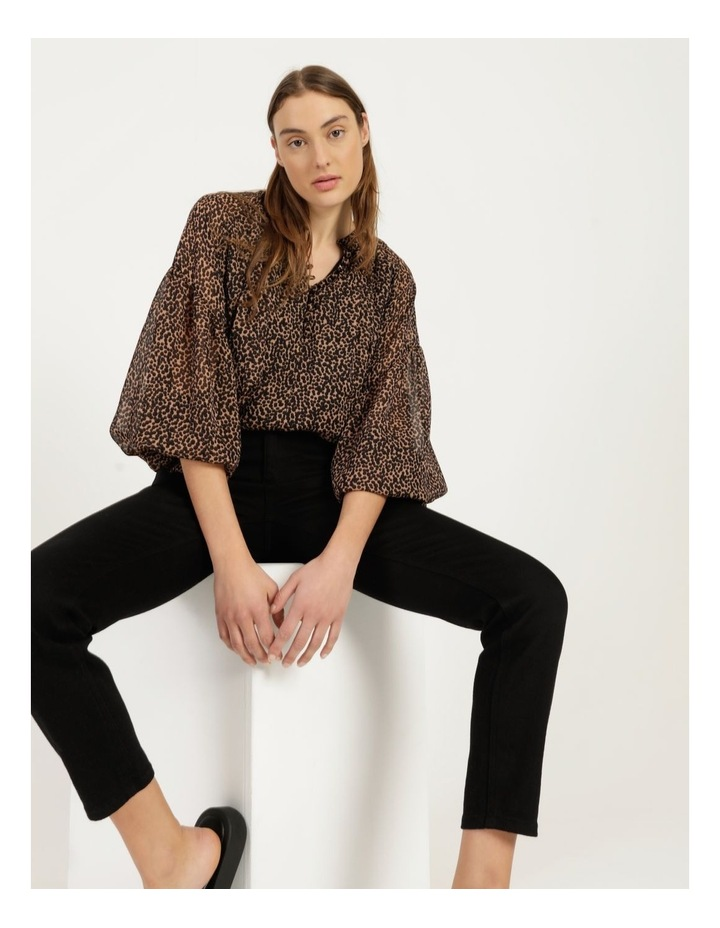 Button Up Long Sleeve Blouse image 1