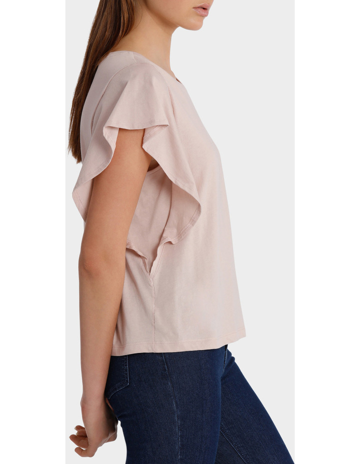 Tee with Ruffle Sleeve Detail image 2