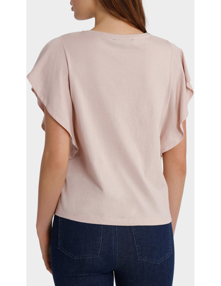 Tee with Ruffle Sleeve Detail image 3