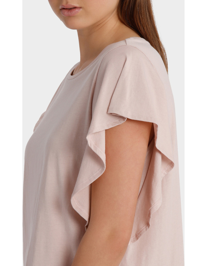 Tee with Ruffle Sleeve Detail image 4
