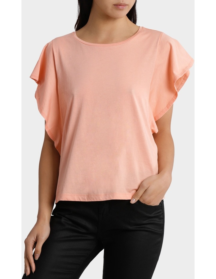 Tee with Ruffle Sleeve Detail image 1