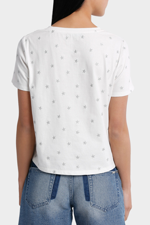 Piper - Tee Embroidered -Star metallic