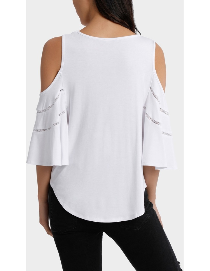 Tee cold shoulder with ladder stitch image 3