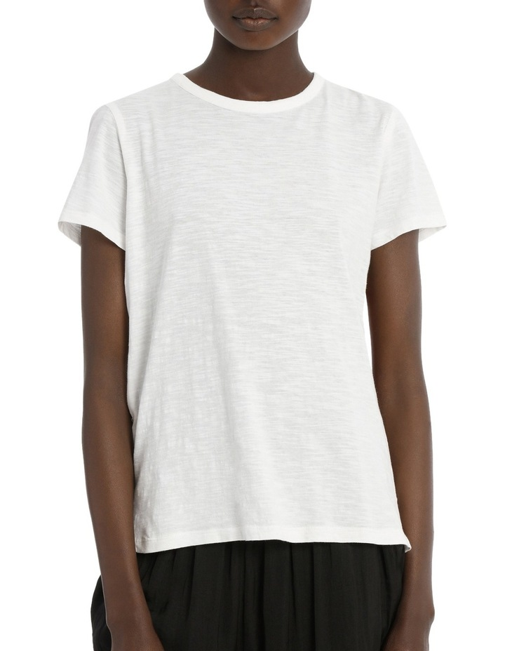 Tee with Fancy Fabric on Back image 1