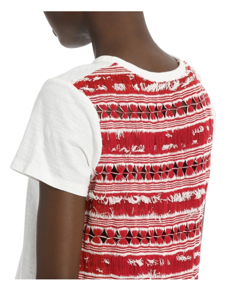 Tee with Fancy Fabric on Back image 4