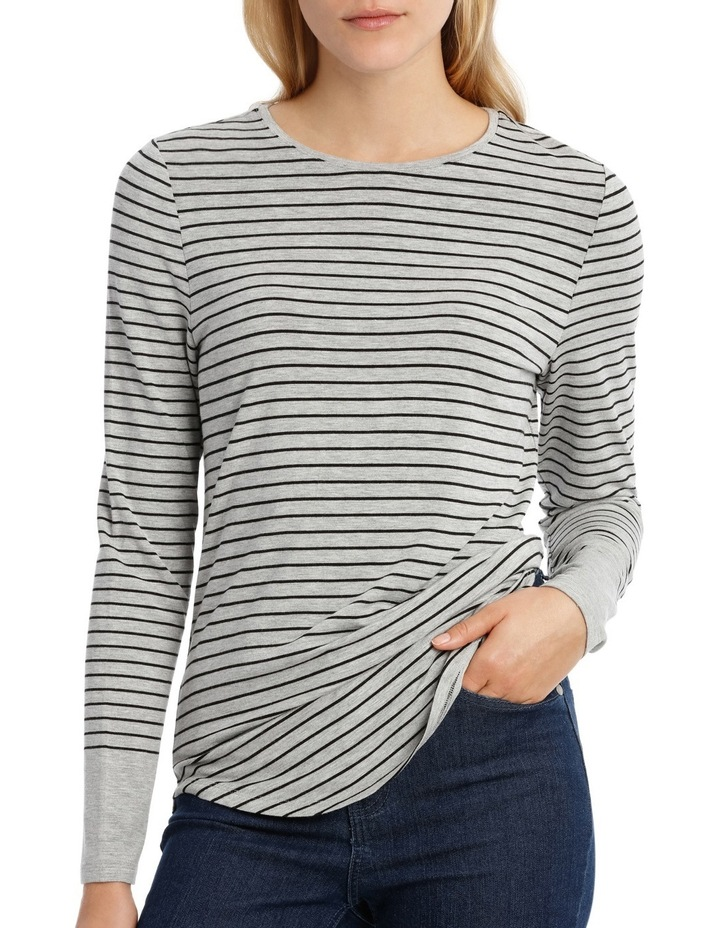 Tee With Crewneck Rounded Hem Detail Fitted PW18003 image 1