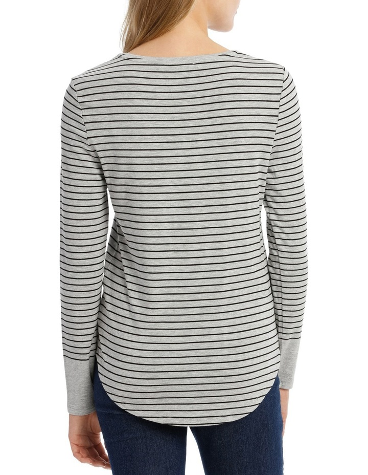 Tee With Crewneck Rounded Hem Detail Fitted PW18003 image 3