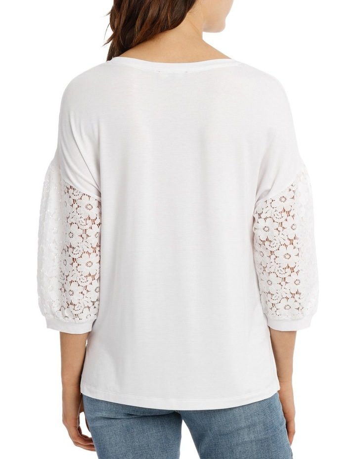 Tee With Lace Sleeve image 3