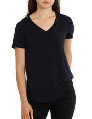 Piper - Tee With Vee Neck Short Sleeve
