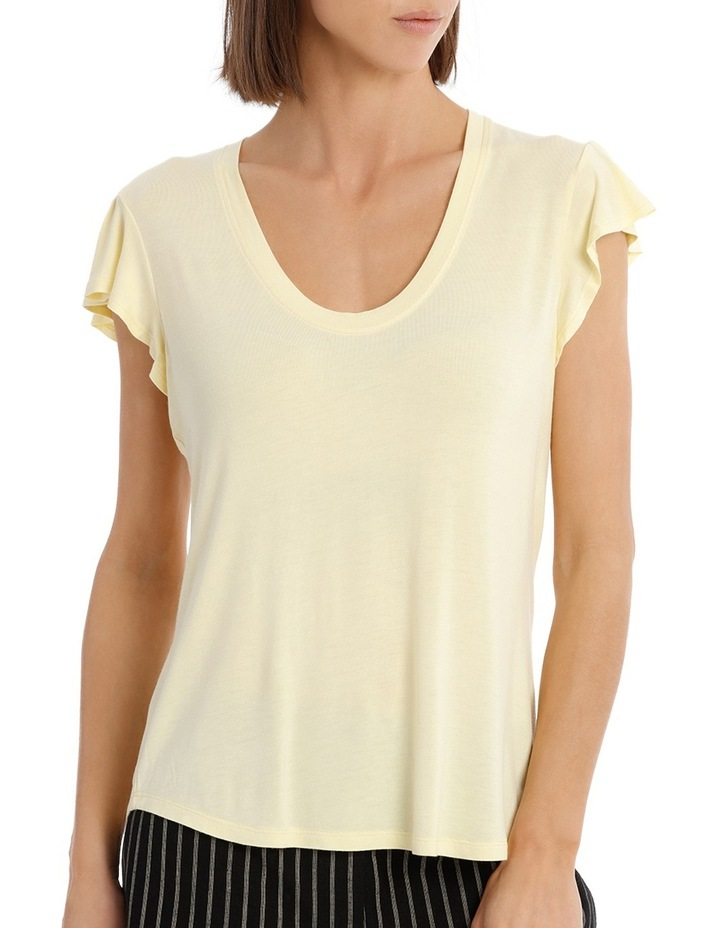 Tee With Scoop Neck and Ruffle image 1