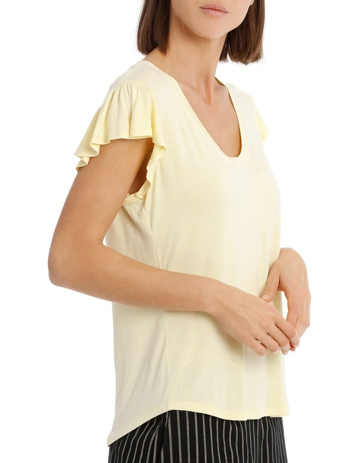Tee With Scoop Neck and Ruffle image 2
