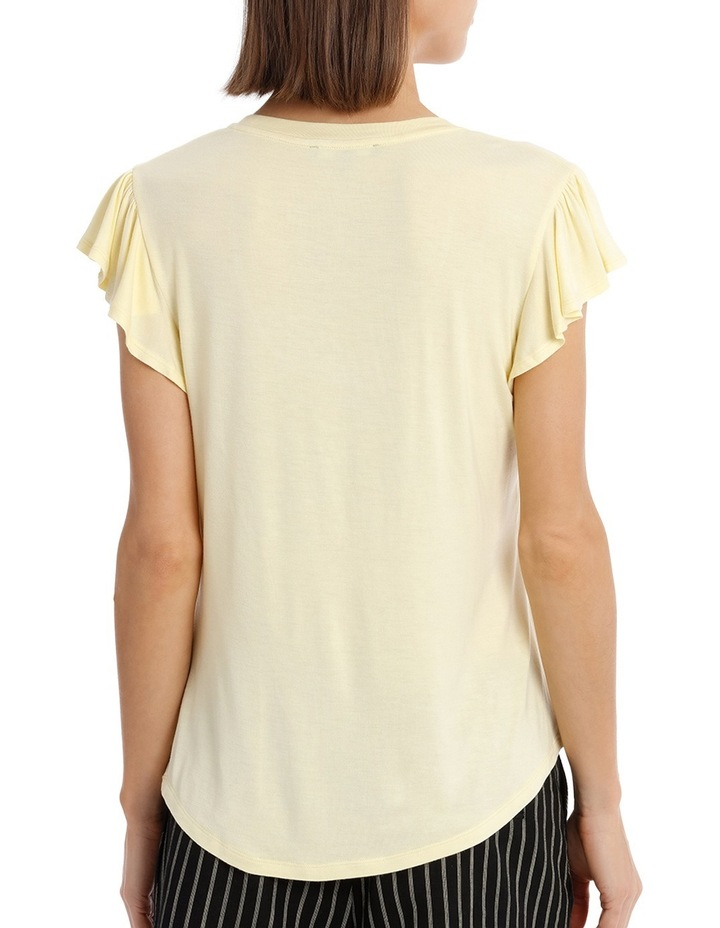 Tee With Scoop Neck and Ruffle image 3
