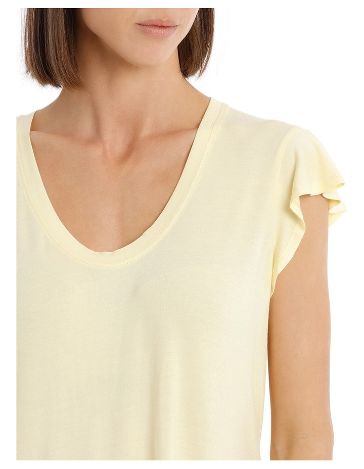 Tee With Scoop Neck and Ruffle image 4