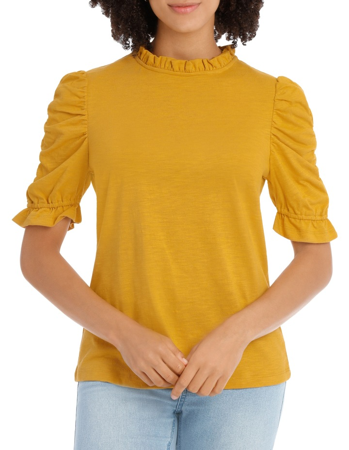 Tee With Puff Rouched Details image 1