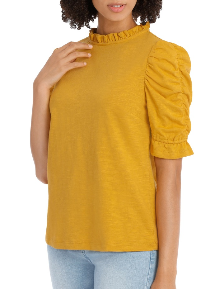 Tee With Puff Rouched Details image 2