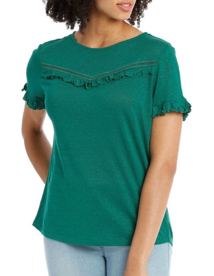 Tee with Frill Short Sleeve image 1