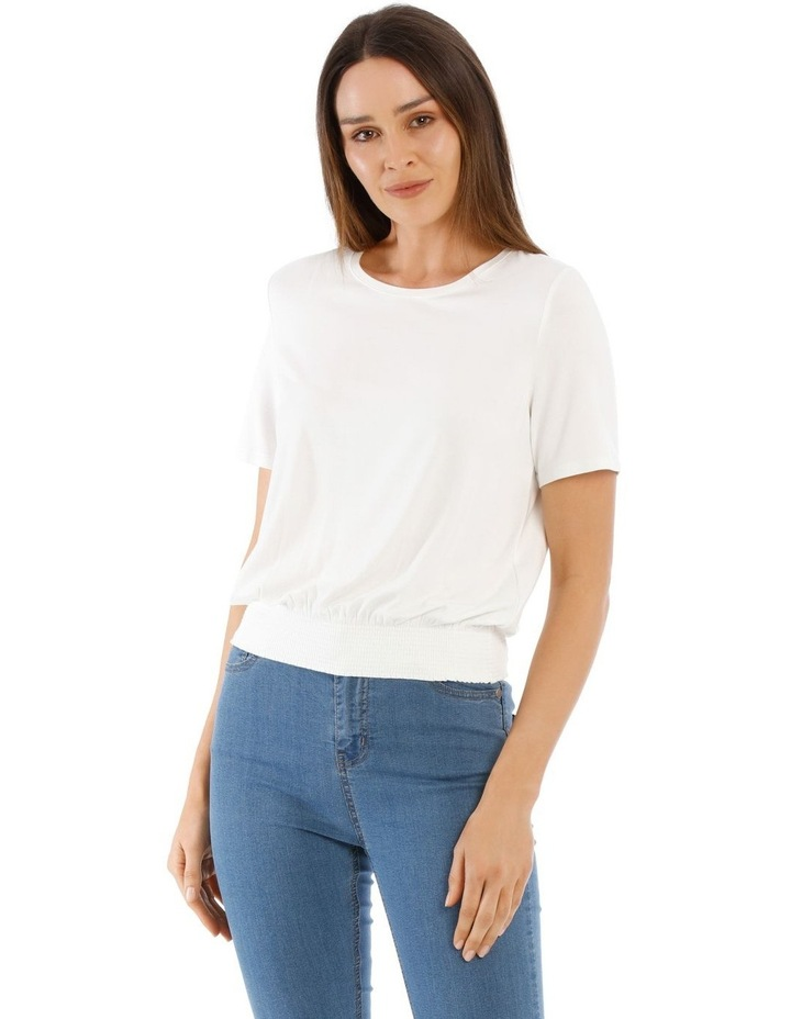 Fashion Tee With Shirred Waist image 1