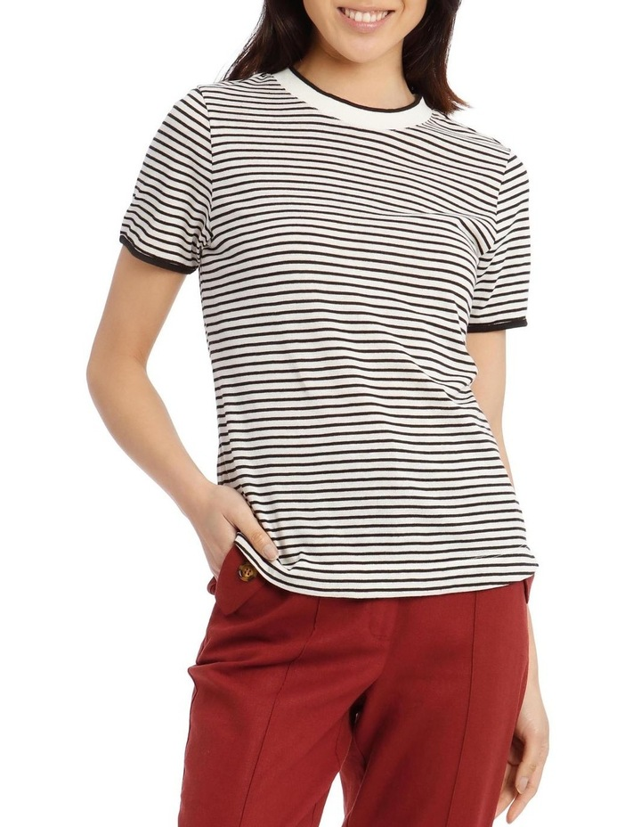 Crew Neck Striped T-Shirt image 1