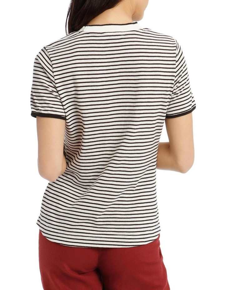 Crew Neck Striped T-Shirt image 3