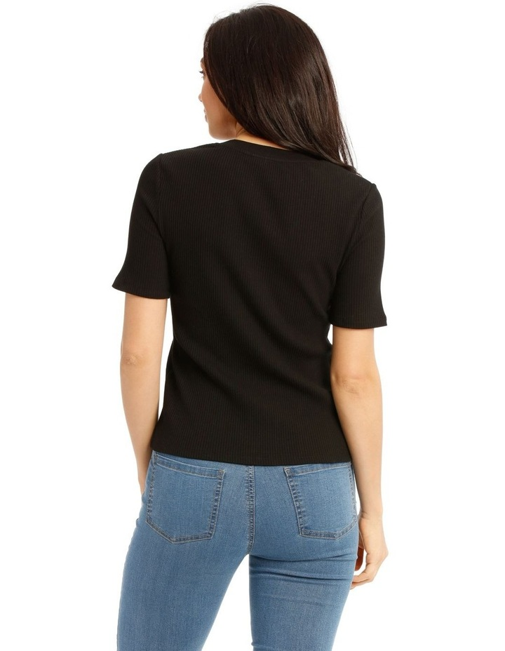 Rib Tee With Button Details image 3