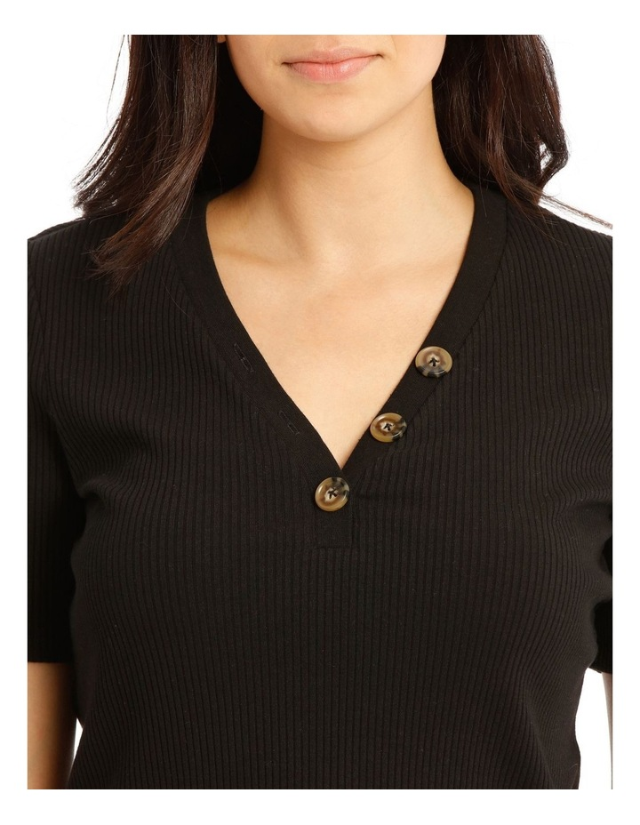 Rib Tee With Button Details image 4