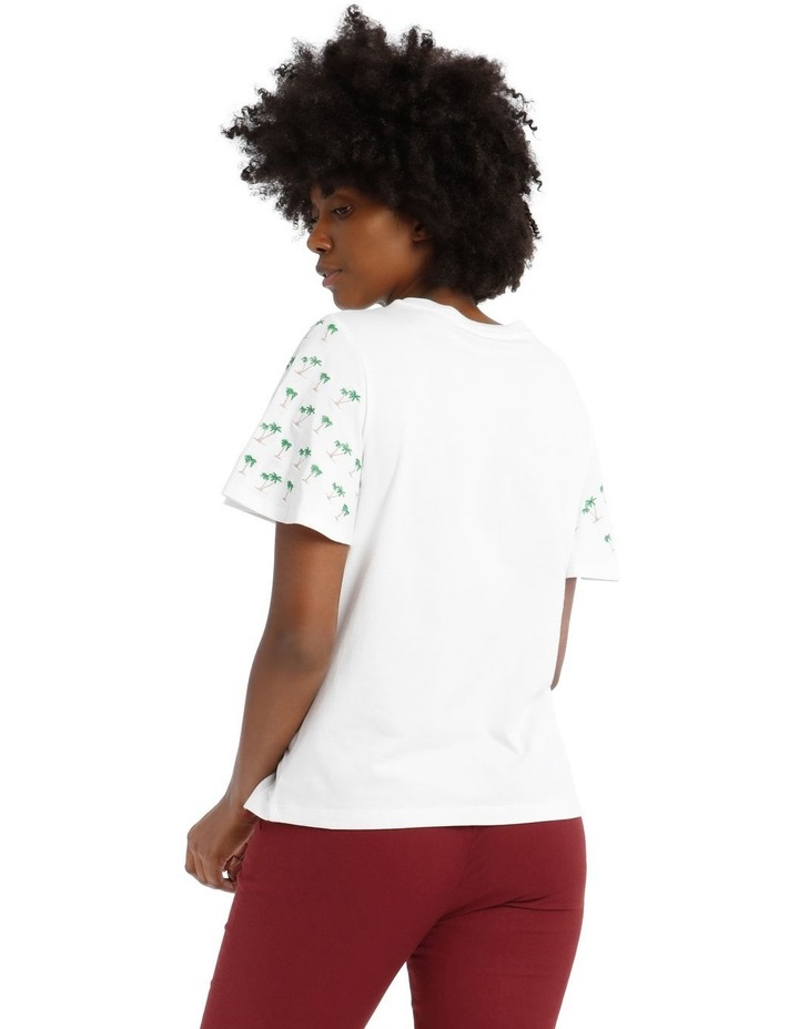 T-Shirt with Embroidered Palm Tree Detail image 3