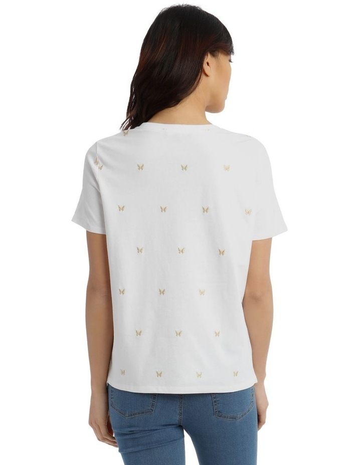 T-Shirt with Embroidered Butterfly Detail image 3