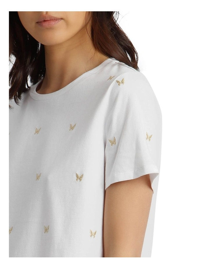 T-Shirt with Embroidered Butterfly Detail image 4