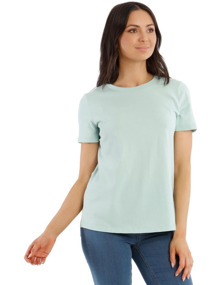 Fitted Crew Neck Tee image 2