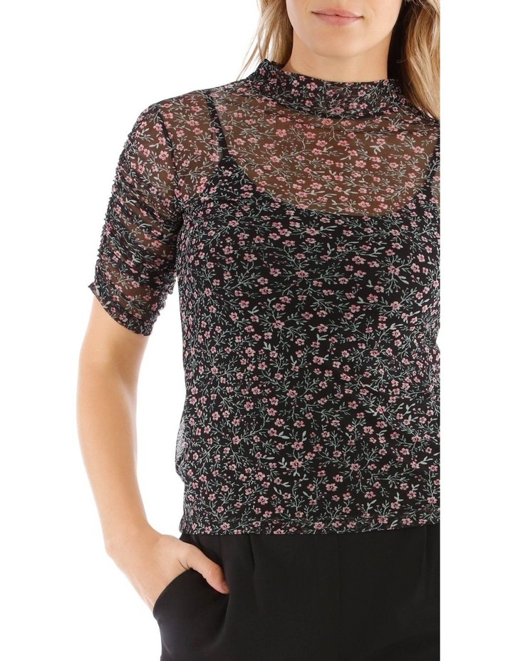 Mesh Ditzy Roll Top image 4