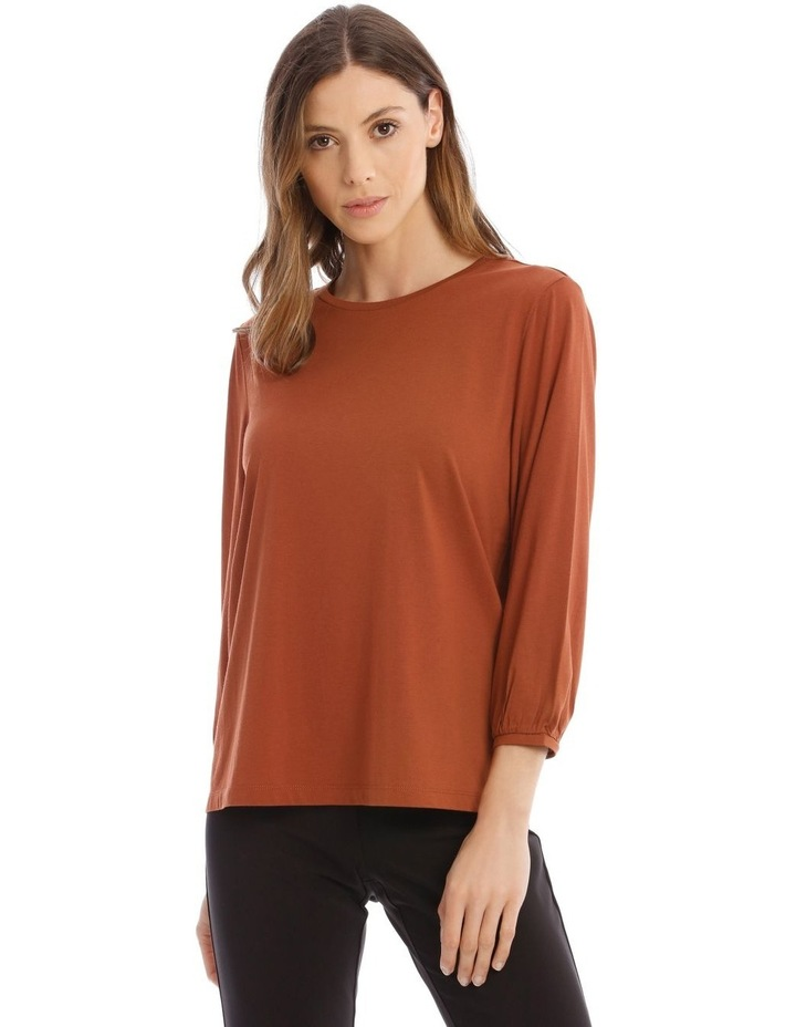 Bubble Sleeve Solid Tee image 1
