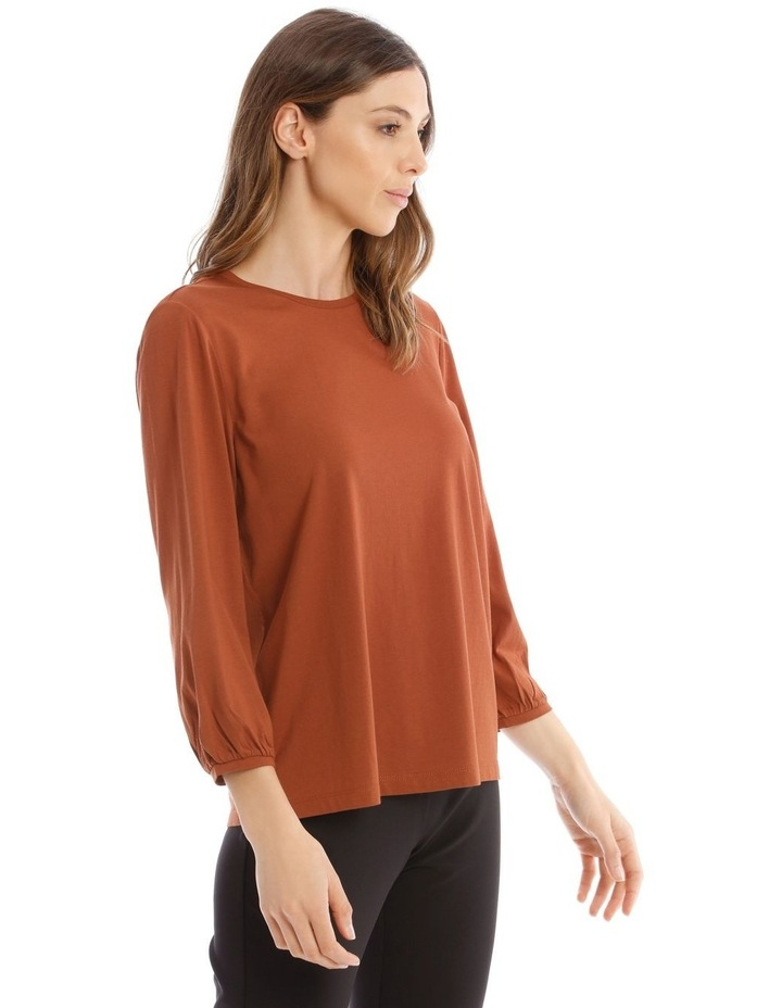 Bubble Sleeve Solid Tee image 2