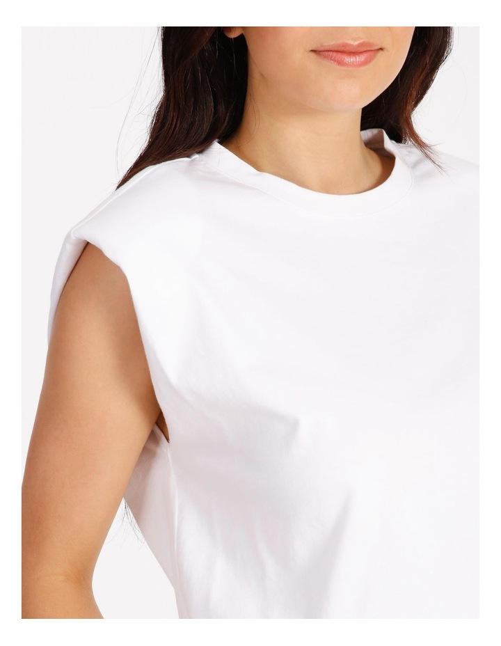 White Muscle Tee image 5