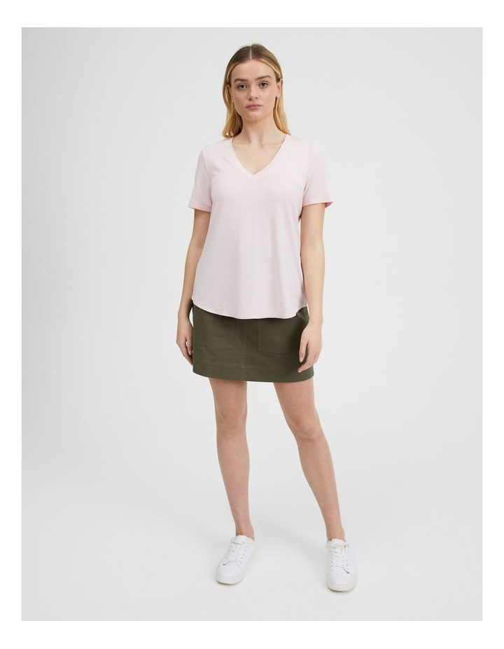 V-Neck Bamboo Tee in Rose image 1